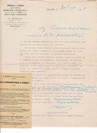 Courrier Clientèle Maison Berger-Levrault, A. Robert, Capitaine En Retraite, Grenoble, 1922 - Altri