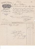 Facture équipements Et Uniformes E. Delorme (anc. Michel Spiquel & Cie), 164 Rue Saint-Honoré, Paris, 1899 - Equipement