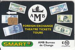 UK - AMB Foreign Exchange(NWP019), SmartZ/New World Telecard 10 Pounds, Tirage 10000, Used - United Kingdom