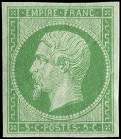 ** EMPIRE NON DENTELE - 12    5c. Vert, Fraîcheur Postale, TTB - 1853-1860 Napoléon III
