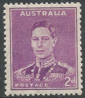 Australia. 1937-49 KGVI. 2d Purple MH. P15X14 SG 185 - Mint Stamps