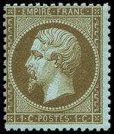 ** EMPIRE DENTELE - 19b   1c. Mordoré, Centrage Courant, TB. Br - 1862 Napoléon III