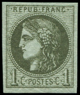 ** EMISSION DE BORDEAUX - 39Ab  1c. Olive Foncé, Très Frais Et TB - 1870 Emisión De Bordeaux
