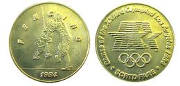 03877 GETTONE JETON TOKEN TRASPORTO TRANSIT GAMES OF THE XXIIIrd OLYMPIAD LOS ANGELES 1984 SCRTD FARE FENCING - USA