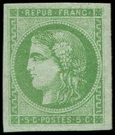 ** EMISSION DE BORDEAUX - 42B   5c. Vert-jaune R II, Superbe - 1870 Emisión De Bordeaux