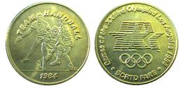 03879 GETTONE JETON TOKEN TRASPORTO TRANSIT GAMES OF THE XXIIIrd OLYMPIAD LOS ANGELES 1984 SCRTD FARE TEAM HANDBALL - USA