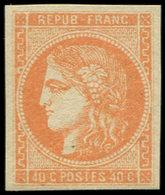 ** EMISSION DE BORDEAUX - 48   40c. Orange, Frais Et TB - 1870 Emisión De Bordeaux