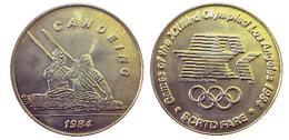03880 GETTONE JETON TOKEN TRASPORTO TRANSIT GAMES OF THE XXIIIrd OLYMPIAD LOS ANGELES 1984 SCRTD FARE CANOEING - USA