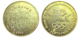 03881 GETTONE JETON TOKEN TRASPORTO TRANSIT GAMES OF THE XXIIIrd OLYMPIAD LOS ANGELES 1984 SCRTD FARE CYCLING - USA