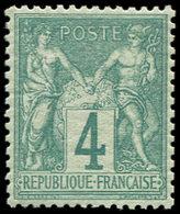 ** TYPE SAGE - 63    4c. Vert, Bien Centré, TB. Br - 1876-1878 Sage (Type I)