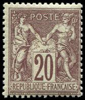 ** TYPE SAGE - 67d  20c. Brun-lilas Foncé, Très Frais Et TTB - 1876-1878 Sage (Type I)