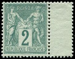 ** TYPE SAGE - 74    2c. Vert, Interp., Bien Centré, TB - 1876-1878 Sage (Type I)