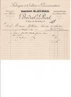 Petite Facture Maison E. Bidal & Piat, 3 Rue De Richelieu, Paris, Sellerie, Passementerie, équipements Militaires, 1909 - Equipement