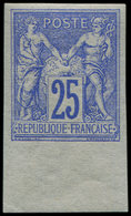 ** TYPE SAGE - 78c  25c. Outremer, NON DENTELE, Bdf, TB - 1876-1878 Sage (Type I)