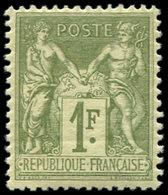 ** TYPE SAGE - 82    1f. Olive Clair, TB - 1876-1878 Sage (Type I)