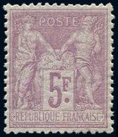 ** TYPE SAGE - 95    5f. Violet Sur Lilas, Très Bon Centrage, TTB - 1876-1878 Sage (Type I)
