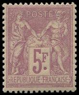 ** TYPE SAGE - 95    5f. Violet Sur Lilas, Bon Centrage, TB/TTB - 1876-1878 Sage (Type I)