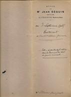 Acté Notarié De 1925 - Testaments Des époux Ollivier-Grimaud Roquevaire (13) - Documents Historiques