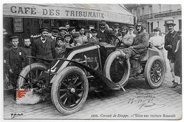 CPA 76 DIEPPE CIRCUIT DE DIEPPE SZISZ  SUR VOITURE RENAULT ** COURSE AUTOMOBILE  ** - Sport Automobile