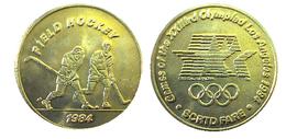 03884 GETTONE JETON TOKEN TRASPORTO TRANSIT GAMES OF THE XXIIIrd OLYMPIAD LOS ANGELES 1984 SCRTD FIELD ROCKEY - USA