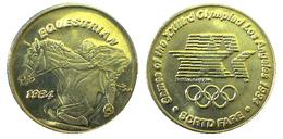 03886 GETTONE JETON TOKEN TRASPORTO TRANSIT GAMES OF THE XXIIIrd OLYMPIAD LOS ANGELES 1984 SCRTD EQUESTRIAN - USA
