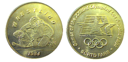 03887 GETTONE JETON TOKEN TRASPORTO TRANSIT GAMES OF THE XXIIIrd OLYMPIAD LOS ANGELES 1984 SCRTD WRESTLING - USA