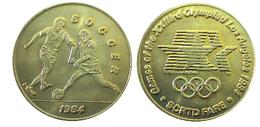 03888 GETTONE JETON TOKEN TRASPORTO TRANSIT GAMES OF THE XXIIIrd OLYMPIAD LOS ANGELES 1984 SCRTD SOCCER - USA
