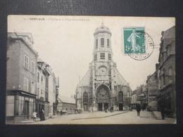 14 - Honfleur - L'Eglise Et La Place Saint Léonard N° 9 - Berranger Imprimeur - 1908 - B.E - Honfleur