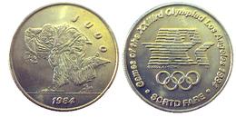 03889 GETTONE JETON TOKEN TRASPORTO TRANSIT GAMES OF THE XXIIIrd OLYMPIAD LOS ANGELES 1984 SCRTD JUDO - USA