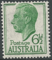 Australia. 1951-52 KGVI. 6½d Green MNH. SG 250 - Mint Stamps