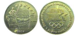 03894 GETTONE JETON TOKEN TRASPORTO TRANSIT GAMES OF THE XXIIIrd OLYMPIAD LOS ANGELES 1984 SCRTD FARE ARCHERY - USA
