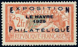 ** EMISSIONS DU XXème SIECLE - 257A  Expo Le Havre, 2f. Orange Et Vert-bleu, Très Bon Centrage, TTB - Nuevos