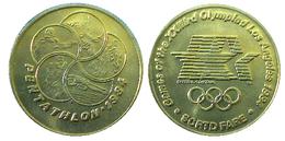 03896 GETTONE JETON TOKEN TRASPORTO TRANSIT GAMES OF THE XXIIIrd OLYMPIAD LOS ANGELES 1984 SCRTD FARE PENTATHLON - USA