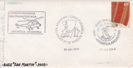 ANTARTIDA ARGENTINA. BASE SAN MARTIN. CORRESPONDENCIA HELITRANSPORTADA. CIRCA 2003- BLEUP - Research Stations
