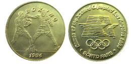 03897 GETTONE JETON TOKEN TRASPORTO TRANSIT GAMES OF THE XXIIIrd OLYMPIAD LOS ANGELES 1984 SCRTD FARE BOXING - USA