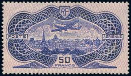 ** POSTE AERIENNE - 15  50f. Burelé, TB - Aéreo
