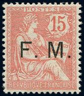 ** FRANCHISE MILITAIRE - 2    15c. Vermillon, Très Bien Centré, TTB - Franquicia Militar (Sellos)