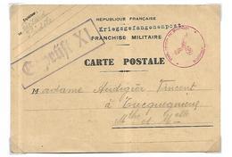 Kriegsgefangenenpost Formule Imprimée En Franchise Militaire Prisonnier De Guerre - Guerre De 1939-45