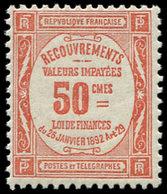 ** TAXE - 47  50c. Rouge, TB - 1859-1955 Usados