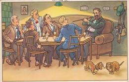 CHIEN  DOG Dackel Teckel  Dachshund  Basset Bassotto Old Postcard 1956 - Chiens