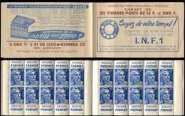 CARNETS (N°Cérès Jusqu'en1964) - 259  Gandon, 15f. Bleu, N°886A, T II, I.N.F.1, TB - Libretas