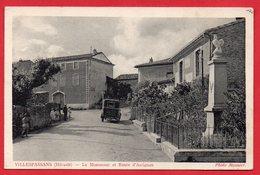 CPA - 34 - VILLESPASSANS - Le Monument Et Route D'Assignan - ANIMEE - - Autres Communes
