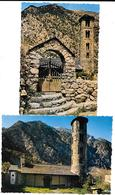 ANDORRE - VALLS D'ANDORRA - SANTA COLOMA  - 2 Cartes  EGLISE ROMANE -   Editeur COMBIER CIM Imp à Macon - Andorra