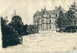 86 - Marçay : Château Des Bonnetières  - Dessin - Autres Communes