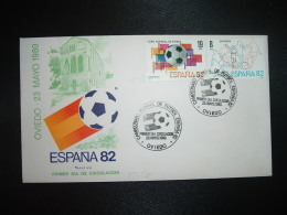 LETTRE TP ESPAGNE 19P + 8P OBL.23 MAYO 1980 FDC OVIEDO CAMPEONATO MONDIAL DE FUTBOL ESPANA 82 - Fußball-Weltmeisterschaft