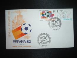 LETTRE TP ESPAGNE 19P + 8P OBL.23 MAYO 1980 FDC SEVILLA CAMPEONATO MONDIAL DE FUTBOL ESPANA 82 - Fußball-Weltmeisterschaft