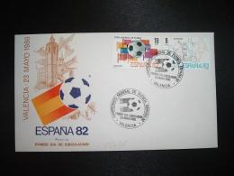 LETTRE TP ESPAGNE 19P + 8P OBL.23 MAYO 1980 FDC VALENCIA CAMPEONATO MONDIAL DE FUTBOL ESPANA 82 - Fußball-Weltmeisterschaft