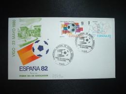 LETTRE TP ESPAGNE 19P + 8P OBL.23 MAYO 1980 FDC VIGO CAMPEONATO MONDIAL DE FUTBOL ESPANA 82 - 1982 – Espagne