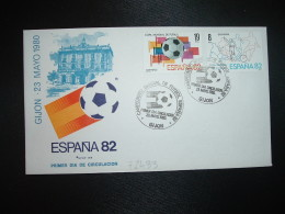 LETTRE TP ESPAGNE 19P + 8P OBL.23 MAYO 1980 FDC LA GIJON CAMPEONATO MONDIAL DE FUTBOL ESPANA 82 - 1982 – Espagne