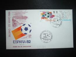 LETTRE TP ESPAGNE 19P + 8P OBL.23 MAYO 1980 FDC BILBAO CAMPEONATO MONDIAL DE FUTBOL ESPANA 82 - 1982 – Espagne